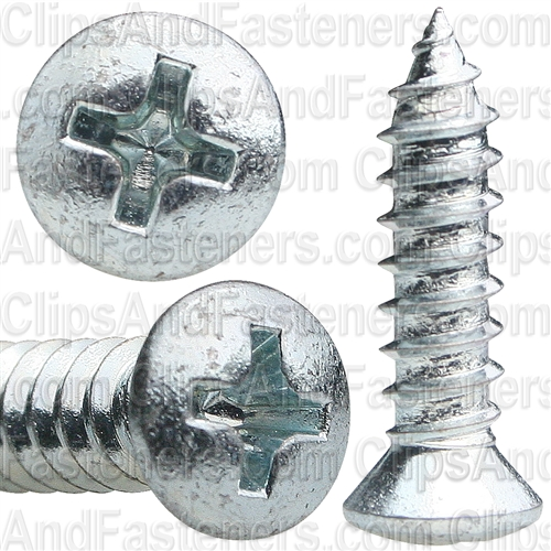 #10 X 3/4 #8 Hd Phillips Oval Head Tap Screw Zinc