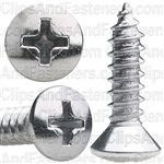 #10 X 3/4 Phillips Oval Head Tap Screw Chrome