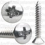 10 X 1 1/4 Phillips Oval Hd Tap Screw Chrome