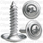"#8 X 3/4"" Phillips Oval #6 Head Sems Countersunk Washer Chrome"
