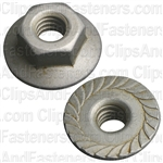 "1/4""-20 USS Spin Lock Nuts With Serrations 11/16"" Flange"