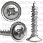 "#8 X 7/8"" Phillips Oval #6 Head Sems Flush Washer Chrome"