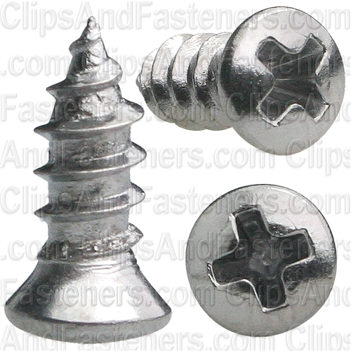 6 X 3/8 #4 Hd Phillips Oval Head Tap Screw Chrome