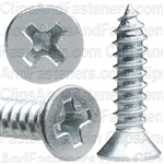 "#8 X 3/4"" Phillips Flat Head Tapping Screw Zinc"
