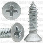 "#10 X 3/4"" Phillips Flat Head Tapping Screw Zinc"