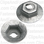 Thread Cutting Nut 1/8 Stud Size 5/16 Hex