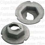 Thread Cutting Nut 3/16 Stud Size 3/8 Hex