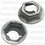 Thread Cutting Nut 1/4 Stud Size 7/16 Hex