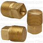 Brass Square Head Plug 1/8 Pipe Thread