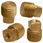 Brass Square Head Plug 1/4 Pipe Thread