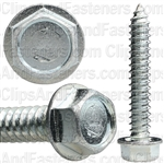 14 X 1 1/2 Ind. Hex Washer Head Tap Screw Zinc
