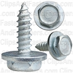 "#12 X 3/4"" Hex Head Sems Tapping Screws Zinc"