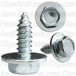 "#14 X 3/4"" Hex Head Sems Tapping Screws Zinc"