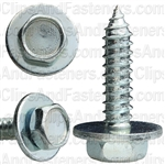 "#14 X 1"" Hex Head Sems Tapping Screws Zinc"