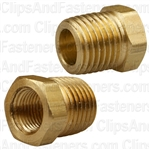 Brass Bushing 1/4 Ext. Thread 1/8 Int. Thread