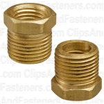 "Brass Bushing 3/8"" Ext. Thread 1/4"" Int. Thread"