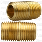 Brass Close Nipple 7/8 Length 1/4 Pipe Thread