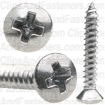4 X 3/4 Phillips Oval Head Tap Screw Chrome