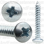 4 X 3/4 Phillips Pan Head Tap Screw Zinc