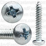 #8 X 1 Phillips Pan Head Tap Screw Zinc