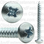 8 X 1 1/2 Phillips Pan Head Tap Screw Zinc