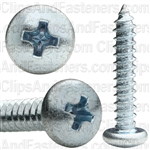 #10 X 1 Phillips Pan Head Tap Screw Zinc