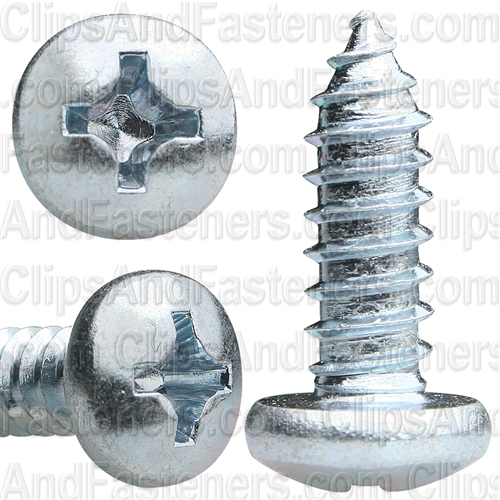 14 X 3/4 Phillips Pan Head Tap Screw Zinc
