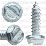 8 X 5/8 Slotted Hex Washer Head Tap Screw Zinc