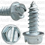 12 X 5/8 Slotted Hex Washer Head Tap Screw Zinc