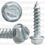 12 X 1 Slotted Hex Washer Head Tap Screw Zinc