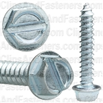 12 X 1 1/4 Slotted Hex Washer Head Tap Screw Zinc