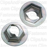 "Thread Cutting Nut 1/4"" Stud 11/16"" Flange"