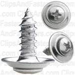 "#10 X 5/8"" Phillips Oval #8 Head Sems Countersunk Washer Chrome"