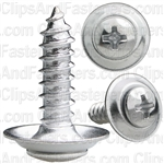 "#10 X 3/4"" Phillips Oval #8 Head Sems Countersunk Washer Chrome"