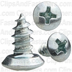 8 X 3/8 Phillips Oval Hd Tap Screw Zinc
