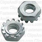 10-24 Hex Keps Lock Washer & Nut Zinc