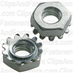 10-32 Hex Keps Lock Washer & Nut Zinc