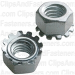 "5/16""-18 Hex Keps Lock Washer & Nut Zinc"