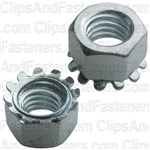 "3/8""-16 Hex Keps Lock Washer & Nut Zinc"