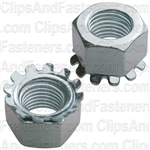 "3/8""-24 Hex Keps Lock Washer & Nut Zinc"