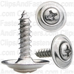 "#6 X 5/8"" Phillips Oval Head Sems Countersunk Washer Chrome"