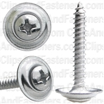 "#6 X 1"" Phillips Oval Head Sems Countersunk Washer Chrome"