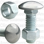 3/8-16 X 1-1/4 Bumper Bolt W/Hex Nut
