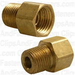 "Brass Male Connector 1/4"" Tube Size 1/8"" Pipe Thread"
