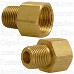 "Brass Male Connector 5/16"" Tube Size 1/8"" Pipe Thread"
