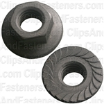 "3/8""-16 USS Spin Lock Nuts With Serrations 7/8"" Flange"