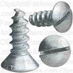 #12 X 5/8 Slotted Oval Head Tapping Screws Zinc