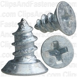 "#4 X 1/4"" Phillips Flat Head Tapping Screw Zinc"