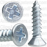 "#4 X 1/2"" Phillips Flat Head Tapping Screw Zinc"