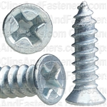 "#8 X 5/8"" Phillips Flat #6 Head Tapping Screw Zinc"